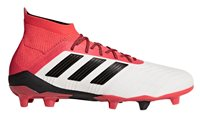 adidas Predator 18.1 FG Football Boots - Adult - White/Black/Real Coral