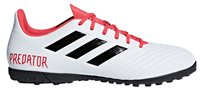 adidas Predator 18.4 Turf Football Boots - Adult - White/Black/Real Coral