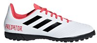adidas Predator 18.4 Turf Football Boots - Youth - White/Black/Real Coral