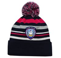 Mc Keever Cork GAA Supporters Beanie Hat - Pink/Grey/Navy