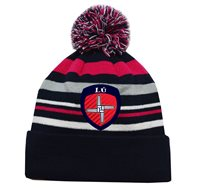 Mc Keever Louth GAA Supporters Beanie Hat - Pink/Grey/Navy