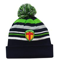Mc Keever Donegal GAA Supporters Beanie Hat - Green/Grey/Navy
