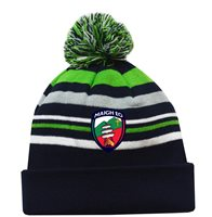 Mc Keever Mayo GAA Supporters Beanie Hat - Green/Grey/Navy