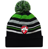 Mc Keever Derry GAA Supporters Beanie Hat - Green/Grey/Black