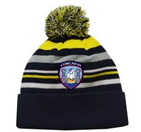 Mc Keever Cork GAA Supporters Beanie Hat - Yellow/Grey/Navy