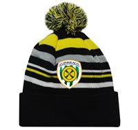 Mc Keever Limerick GAA Supporters Beanie Hat - Yellow/Grey/Black