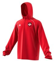 adidas County Derry GAA Core 18 Rain Jacket - Adult - Red/White