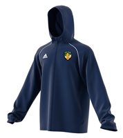 adidas County Offaly GAA Core 18 Rain Jacket - Adult - Dark Blue/White