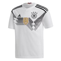 adidas Germany FC 2017/18 Home Short Sleeve Jersey - Youth - White/Black