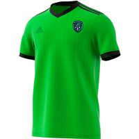 adidas County Fermanagh GAA Tabela 18 Jersey - Adult - Solar Green/Black