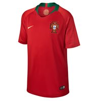 Nike Portugal FC 2018 Stadium Home Jersey - Youth - Gym Red