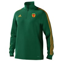 adidas Mi County Donegal GAA Mi Team 18 1/4 Zip Training Top - Mens - Bold Green/Collegiate Gold