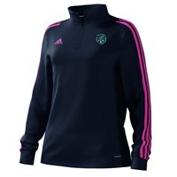 adidas Mi County Fermanagh GAA Mi Team 18 1/4 Zip Training Top - Womens - Collegiate Navy/Intense Pink