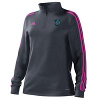 adidas Mi County Fermanagh GAA Mi Team 18 1/4 Zip Training Top - Womens - Onix/Intense Pink