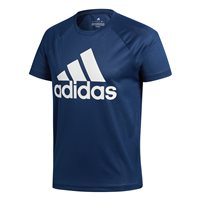 adidas Functional D2M Logo Tee - Mens - Navy