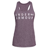 Under Armour Threadborne Train Graphic Twist Tank Top - Womens - Purple