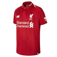 New Balance Liverpool FC 2018/19 Short Sleeve Home Jersey - Youth - Red