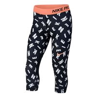 Nike Capri Tights - Girls - All Over Print/Crimson