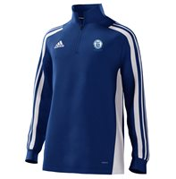 adidas Club Templemore Ladies GFC Mi Team 18 1/4 Zip Training Top - Youth - Bold Blue/White
