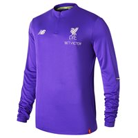 New Balance Liverpool FC 2018/19 Elite Training Mid Layer Top - Youth - Deep Violet