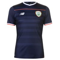 New Balance FAI Republic Of Ireland 2017/18 Elite Training Pre Match Tee - Youth - Navy