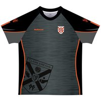 Mc Keever Clann Eireann GAA Training Jersey - Adult - Charcoal/Black/Orange