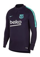 Nike FC Barcelona 2018/19 Dri-FIT Squad Drill Top - Adult - Purple Dynasty/Hyper Turquoise