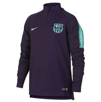 Nike FC Barcelona 2018/19 Dri-FIT Squad Drill Top - Youth - Purple Dynasty/Hyper Turquoise
