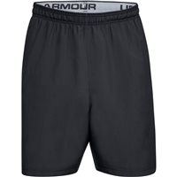 Under Armour Woven Graphic Wordmark Shorts - Mens - Black/Zinc Grey