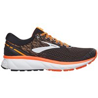Brooks Ghost 11 Running Shoes - Mens - Black/Silver/Orange