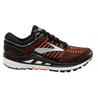 Brooks Transcend 5 Running Shoes - Mens - Black/Orange/Silver