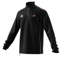 adidas Club Arklow RFC Core 18 Training Top - Adult - Black/White