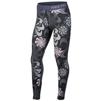 Nike Pro Tights - Girls - Black/Diffused Blue/Pink