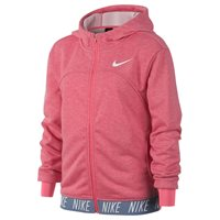 Nike Dry Full Zip Studio Hoodie - Girls - Pink Nebula/Heather