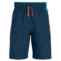 Under Armour Evolve Woven Shorts - Boys - Techno Teal/Deceit/Magma Orange