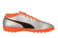 Puma Puma One 4 Syn TT Jnr Football Boots - Youth - Silver/Orange/Black