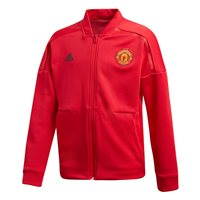 adidas Manchester United FC Official 2018/19 ZNE Hooded Jacket - Youth - Real Red