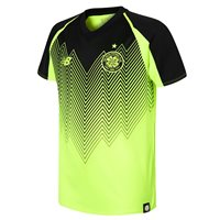 New Balance Celtic FC 2018/19 Short Sleeve Third Jersey - Youth - Hi-Lite/Black