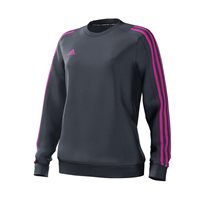 adidas Mi Mi Team 18 Sweat Top - Womens - Onix/Onix/Intense Pink