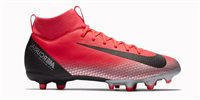 Nike Superfly 6 Academy GS CR7 FG/MG Football Boots - Youth - Bright Crimson/Black Chrome