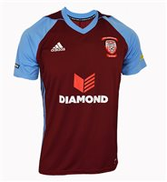 adidas Club Derry City FC Tiro 17 Third Jersey - Youth - Burgundy/Light Blue