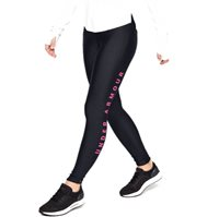 Under Armour Armour Fly Fast Split Tights - Womens - Black/Mojo Pink/Reflective