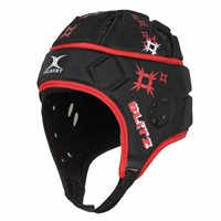 Gilbert Attack Blitz Headguard - Adult - Black/Red