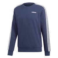 adidas Essentials 3Stripe Crew Neck Sweatshirt - Mens - Navy/White
