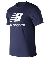 New Balance Essentials Stacked Logo Tee - Mens - Navy