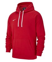 Nike Club 19 Pullover Fleece Hoodie - Youth - University Red/White