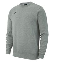 Nike Crew Fleece Sweat Top - Adult - Dark Grey Heather/White