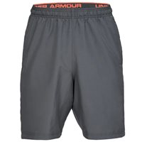 Under Armour Woven Graphic Wordmark Shorts - Mens - Gray/Orange
