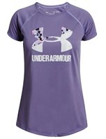 Under Armour Big Logo Solid Short Sleeve Tee - Girls - Purple Luxe/Purple Ace/White