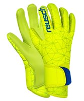 Reusch Pure Contact S1 Goalkeeper Gloves - Youth - Lime/Safety Yellow/Lime